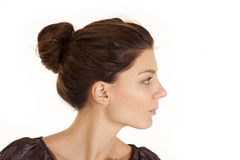 Woman head side neck Stock Images