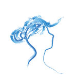 Woman head sketch for spa saloon Royalty Free Stock Photography