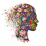 Woman head on white background. royalty free illustration