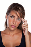 Woman with Headache. An attractive woman with a headache Stock Photos