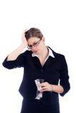 Woman headache Royalty Free Stock Photography
