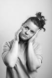 Woman headache Royalty Free Stock Photos