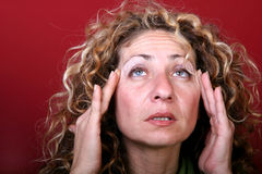 Woman with headache Royalty Free Stock Photo