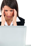 Woman  with a headache Stock Photography