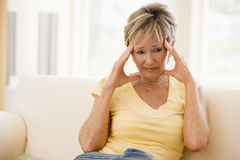 Woman With A Headache Royalty Free Stock Photos