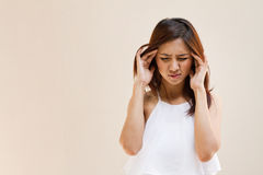 Woman with headache, migraine, stress Royalty Free Stock Photography