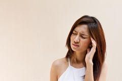 Woman with headache, migraine, stress, insomnia, hangover Stock Images