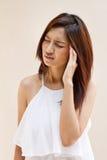 Woman with headache, migraine, stress, insomnia, hangover Stock Image