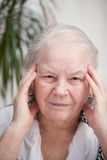 Woman with headache pain Royalty Free Stock Photography