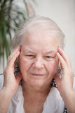 Woman with headache pain Royalty Free Stock Images