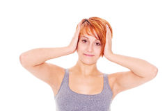 woman with headache pain Stock Photography