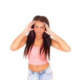 Woman with headache. Stock Images