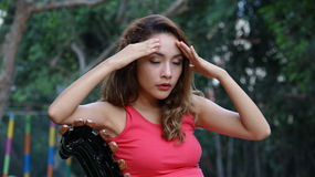 Woman With Headache Or Stress Stock Photography