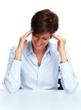 Woman with a headache. Stock Images