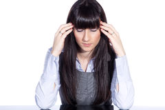 Woman with headache Royalty Free Stock Photos