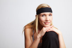 Woman with headband Royalty Free Stock Photo