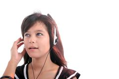 Woman with headphone Stock Photos