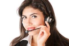 Woman with headphones Stock Image