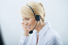 Woman with Headphones. Stock Image