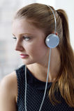 Woman with a headphones Royalty Free Stock Photography