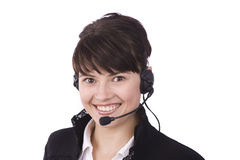 Woman with headset Royalty Free Stock Photos