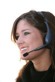 Woman On Headset Royalty Free Stock Image