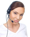 Woman in Headset Stock Photos