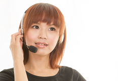 Woman with headset Stock Photos