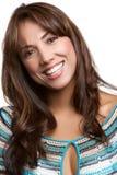 Woman Headshot. Beautiful smiling latin woman headshot stock image