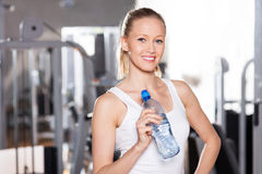 Woman in health club Royalty Free Stock Image