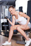 Woman in health club Royalty Free Stock Photography