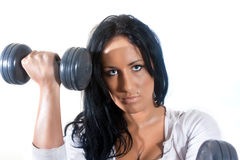 Woman in health club Royalty Free Stock Photo