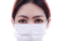 Woman  with health mask Stock Image