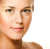 Woman with health skin of face Royalty Free Stock Image