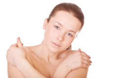 Woman with health skin of face Stock Image