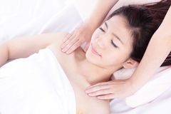 Woman in health spa Stock Images