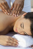 Woman At Health Spa Having Relaxing Massage Royalty Free Stock Images