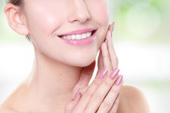 Woman with health teeth Stock Photo