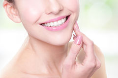 Woman with health teeth Stock Photos