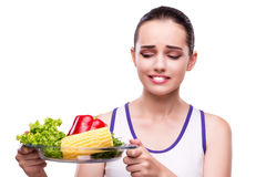 The woman in healthy eating concept Stock Image