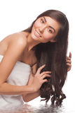 Woman with healthy hair stock photos