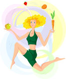 Woman and healthy living style Royalty Free Stock Image