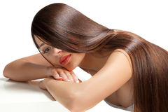 Woman with Healthy Long Hair Royalty Free Stock Photos