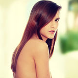 Woman with healthy long hair Royalty Free Stock Images