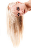 Woman with healthy long hair Stock Photos