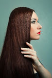 Woman with Healthy Long Hair. hairstyle Royalty Free Stock Images