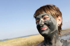 Woman with healthy mud clay Royalty Free Stock Photo