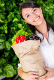 Woman healthy shopping Royalty Free Stock Photo