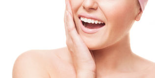 Woman with healthy teeth Royalty Free Stock Photo