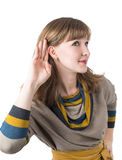 Woman hear Royalty Free Stock Images